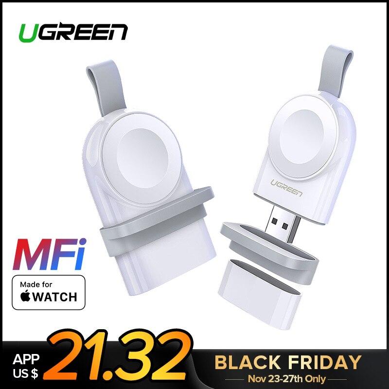 Ugreen Chargeur Pour Apple Montre Chargeur Rapide Sans Fil USB Chargeur Série 4 3 2 1 MFi Certifié Original Pour Apple montre Chargeur