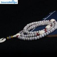 JoursNeige Xingyue Bodhi Con Hebilla De Seguridad 108 Collar de Cuentas de Madera de Buda Afortunado Para Mujeres Hombres Suéter Joyería de Cadena Populares