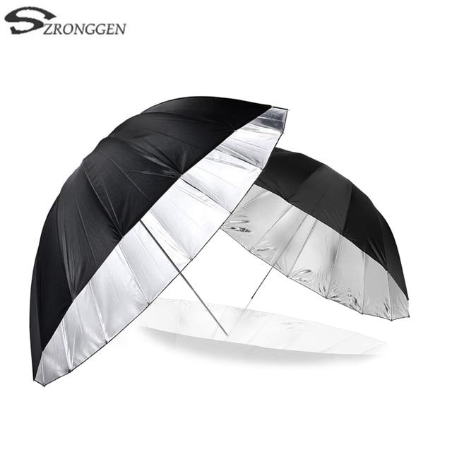 """Godox 150 cm 60 """"Inches Fotografie Studio Paraplu voor Fotostudio van Zachte Verlichting Out In Zwart Binnenkant Van Zilveren Paraplu"""