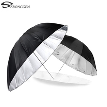 "Godox 150 cm 60 ""Inches Photography Studio Umbrella for Photo Studio of Soft Lighting Out In Black Inside Of Silver Umbrella"