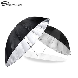 """Image 1 - Godox 150 cm 60 """"Inches Photography Studio Umbrella for Photo Studio of Soft Lighting Out In Black Inside Of Silver Umbrella"""