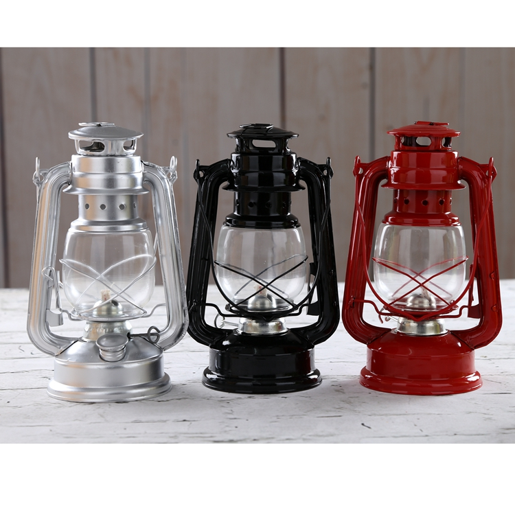 Hurricane Lantern Kerosene Lamp Wrought