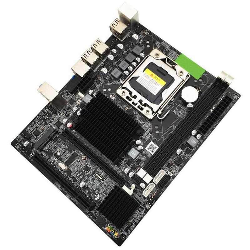 X58 Pc コンピュータのデスクトップマザーボードコンピュータケース Lga1366 Cpu インタフェース Ddr3 Msata V1.6 メインボードシステムボードインテル Xeon コア I7 A55 A58