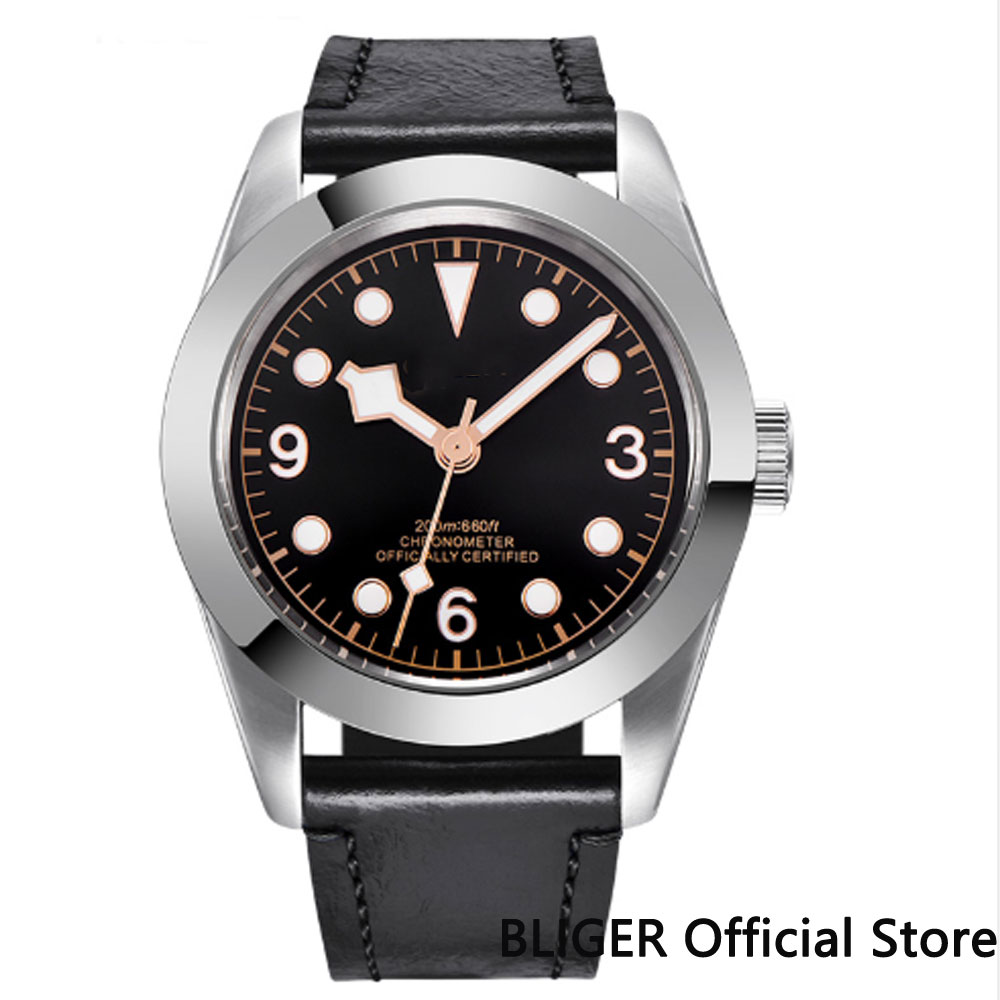41MM Black Sterile Dial Luxury Mechanical Wrist Watches Sapphire Crystal Silver Bezel MIYOTA Movement Automatic Men's Watch BC37 цена и фото