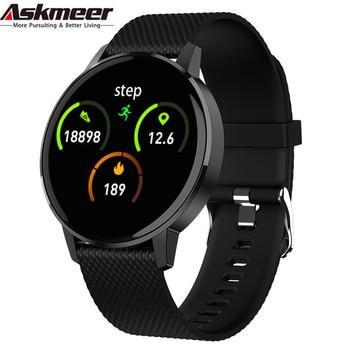 Askmeer T4 Smart Watch Men Women Waterproof Heart Rate Oxygen Blood Pressure Sleep Monitor Smartwatch For Huawei iPhone Xiaomi