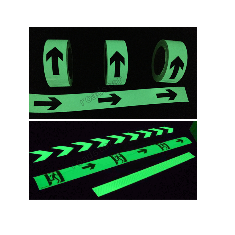 Купить с кэшбэком 50mmX2m glow in the dark tape lasting 4 hours Luminous film for safety