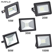 LED Floodlight 100W 50W 30W 20W10W Ultra Thin Led Flood Light Spotlight Outdoor 220V IP65 Outdoor Wall Lamp Flood Light Led(China)