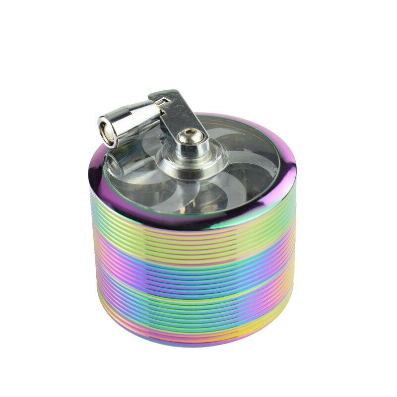 Colorful Rainbow Screw Thread Shape Spice Grinder