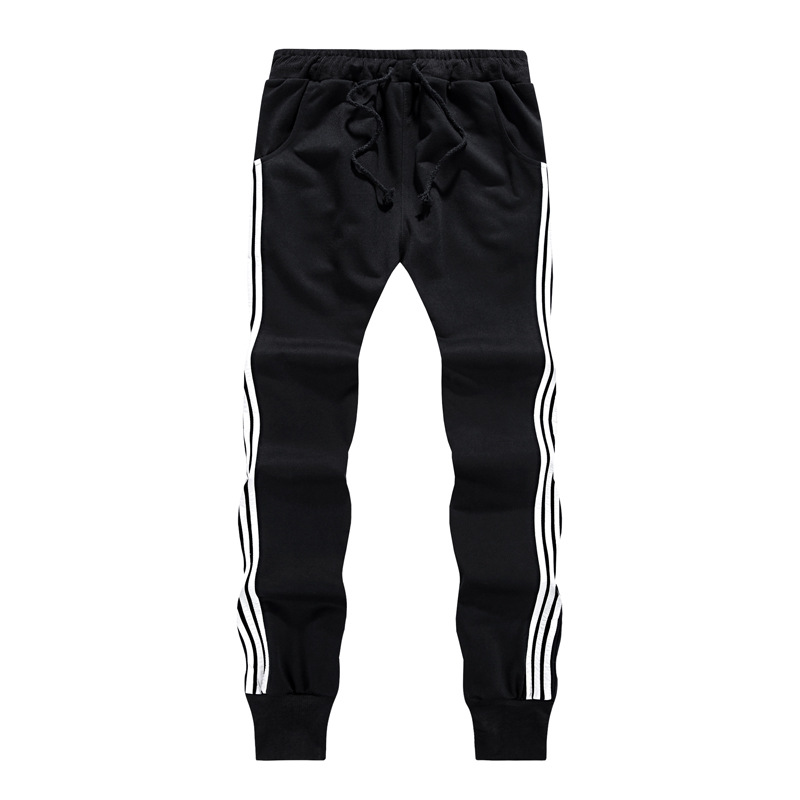 2018 New Fashion Tracksuit Bottoms Mens Casual Pants Cotton Sweatpants Mens Joggers Striped Track Pants Gyms Fitness Clothing