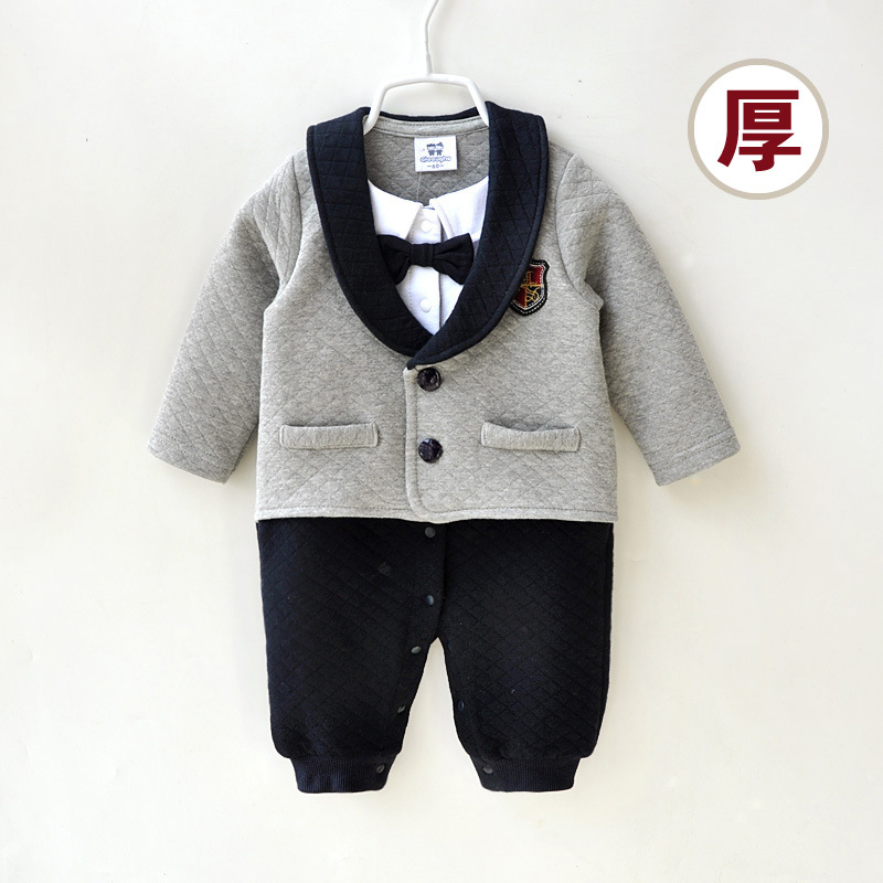 Baby Boy Clothes Winter Newborn Baby Clothes Thicken Cotton Romper Jumpsuit Gentleman Costume Baby Rompers Infant Boy Clothes christmas baby rompers ropa bebe 100%cotton newborn infant romper 0 18m baby girls boy clothes jumpsuit romper baby clothes