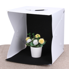 33cm * 33cm * 40cm Portable Mini Photo Studio Box Photography Backdrop built-in Light Photo Box Camera Accessories