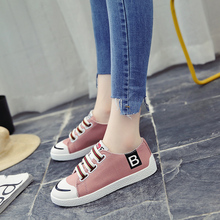 2018 New Spring/autumn Womens Shoes All-inclusive Korean Version of Students Flat on One Foot Canvas Little White 5