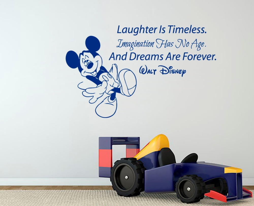Mickey Mouse Wall Art popular mickey mouse wall decal quotes-buy cheap mickey mouse wall