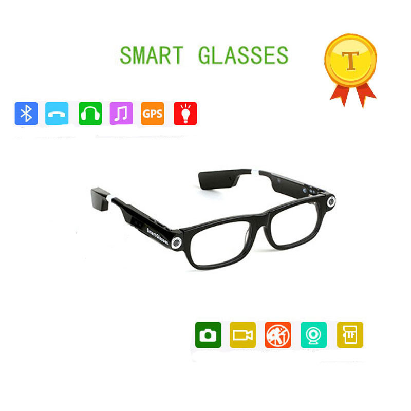 2017 fashion style smartglasses sunglasses support picture video maker bluetooth