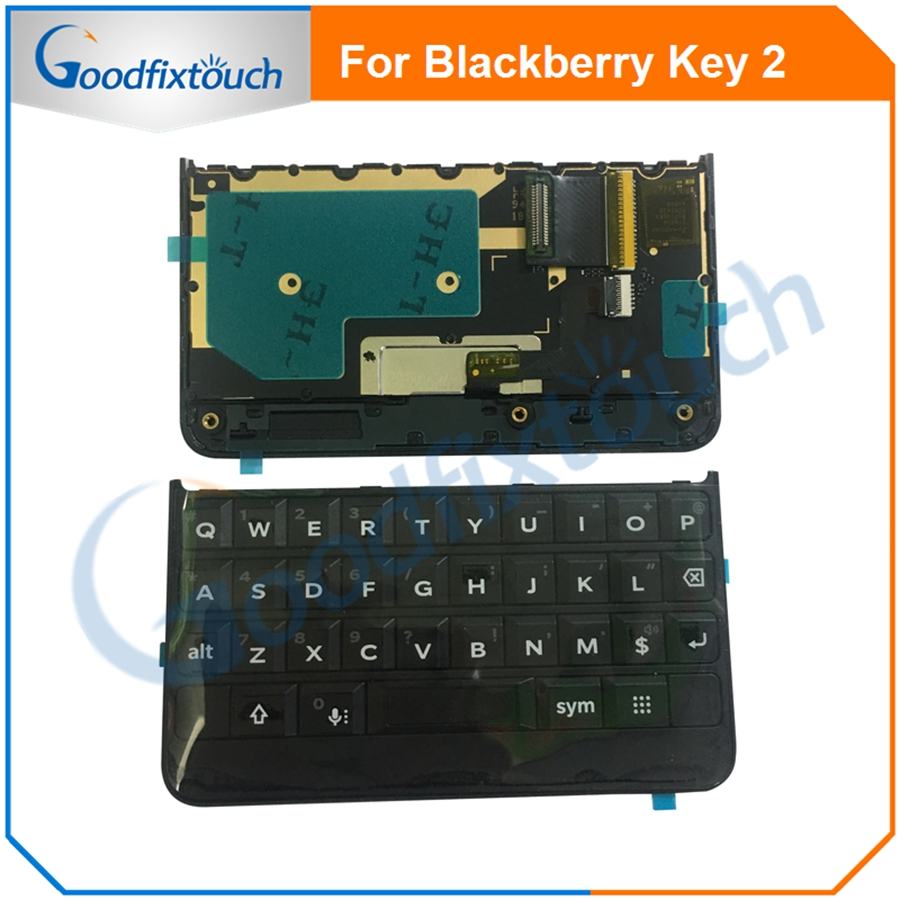 Keypad for BlackBerry Keytwo Key2 Keyboard Button With Flex Cable for BlackBerry Key 2 Phone Replacement Parts Black Silver AAA(China)