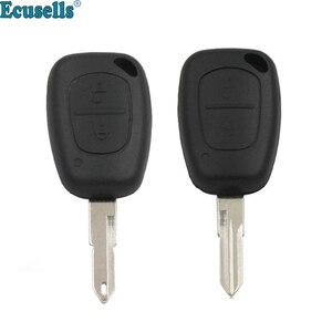 2 button smart remote key shell case fob for Renault Clio III Kangoo Master Twingo Trafic Modus NE73 OR VA2 uncut blade