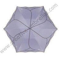 3pcs/lot colour option Ladies' summer lotus leaf rose flower super light folding umbrella pink purple Anti-UV embroidery parasol