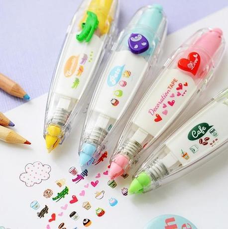 4pcs/lot Korea Stationery Cute Novelty Decorative Correction Tape Correction Fluid School & Office Supply Correction Lace