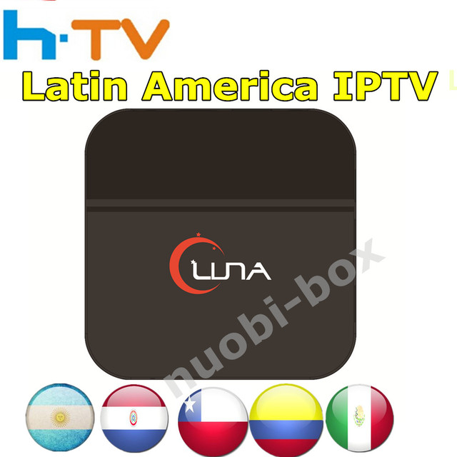 [Genuine] LUNA box latin iptv box Spainish Internet IPTV TV Box KODI Live South America Mexico/Paraguy/Chile/Argentina/TV HD
