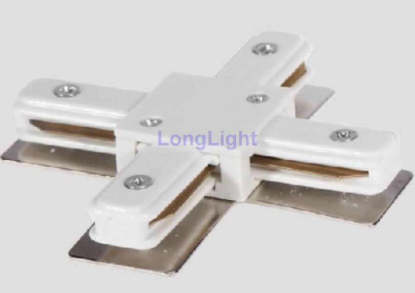 shape rail connector,LED track light rail connectors,Two wires ...