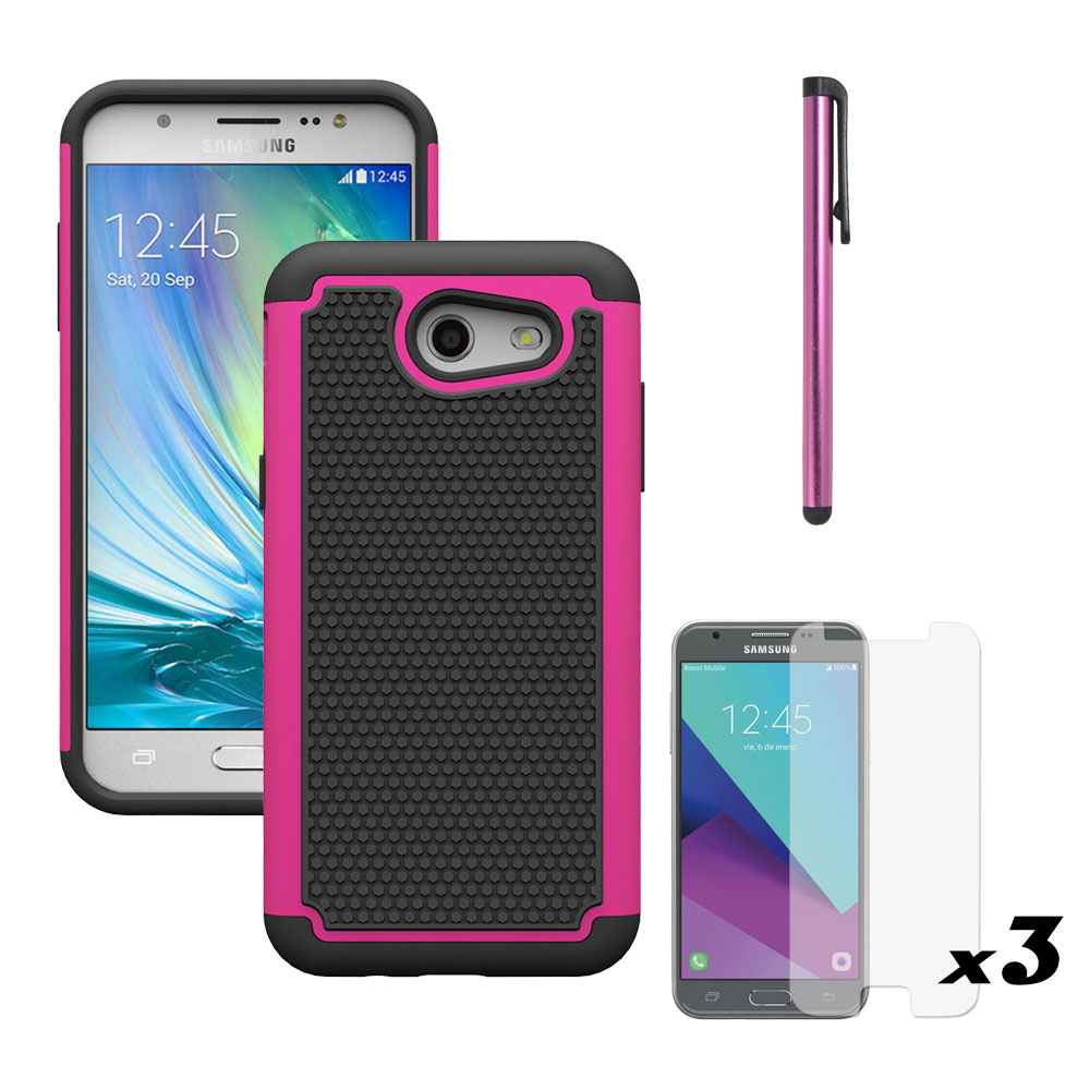 2 in 1 Heavy Duty Hybrid Armor Cases Shockproof Hard Cover For Samsung Galaxy J3 Emerge/ ...