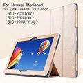 Lujo case tablet pc cubierta del soporte para huawei mediapad 10 fhd para huawei mediapad 10 link case + protector de pantalla