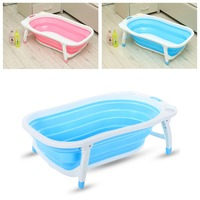 Baby Shower Portable Foldable Baby Infant Child Kids Toddler Bath Tub Seat Space Saving Desigh flat Foldable Tub#275099