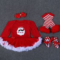 Infant Baby Girl Summer Long Suit Novelty Costume Baby Christmas Clothing Sets Santa Rompers Birthday Party