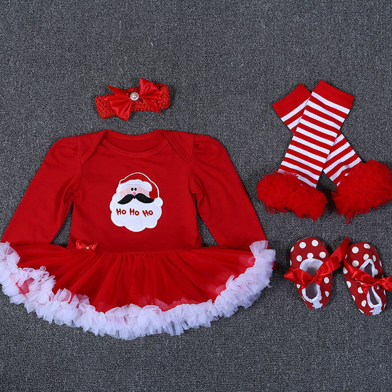 Infant Baby Girl Summer long Suit Novelty Costume Baby Christmas Clothing Sets Santa Rompers Birthday Party Cosplay Gift 5 color lovely flower 1set baby girl infant rompers tutu romper dress bebe party birthday kids children s sets clothing sets suit