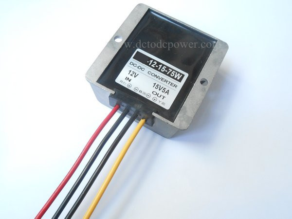 12V turn 15V5A DC-DC power converter synchronous rectifier booster liter 12V DC module 15V5A75W u s vicor module ve j61 cw ve j61 ew dc converter 300vdc turn 12v100w