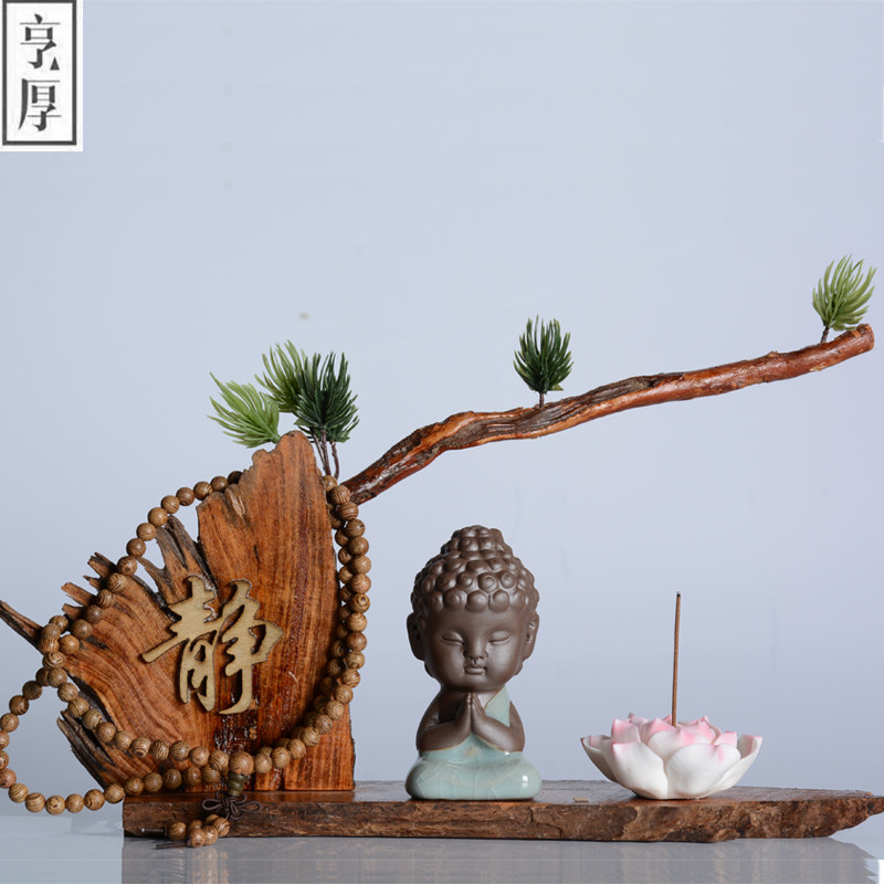 2017 incensory Buddha statue incense cones ceramic incense burner stove disc sandalwood incense coil Buddha beads 4 styles