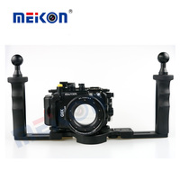 Meikon 40M 130FT Underwater Camera Waterproof Housing Case For Canon G9X Two Hands Housing Tray