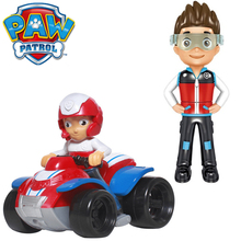 Paw Patrol Dog Puppy Car Ryder Skye Patrulla Canina Collection Action Figures Scroll Toys Series Genuine