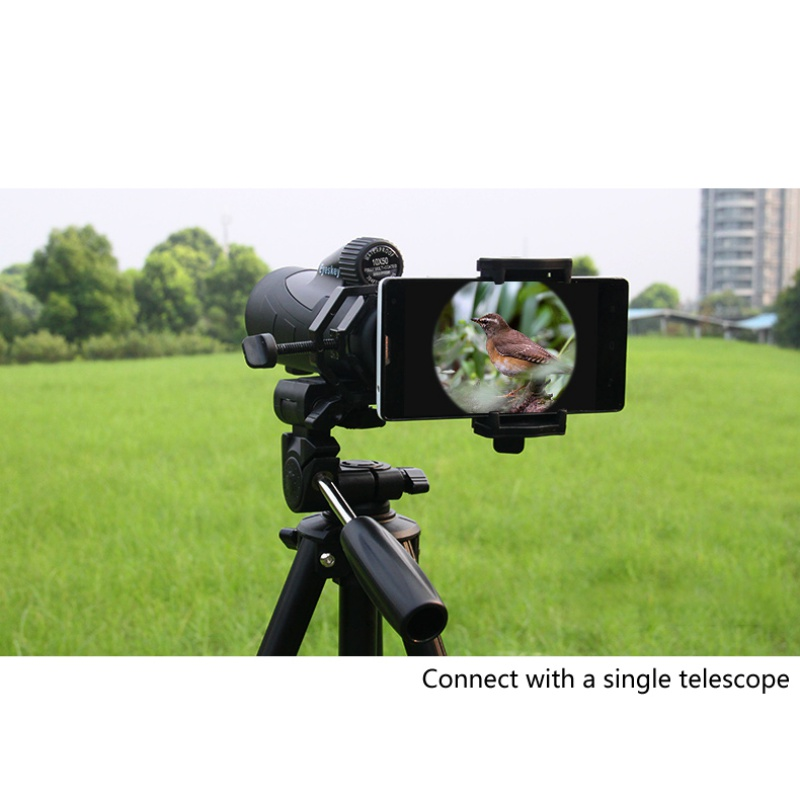 Outdoor shooting Accessories microscope telescope bracket clip metal universal phone clip telescope mobile camera phone clip
