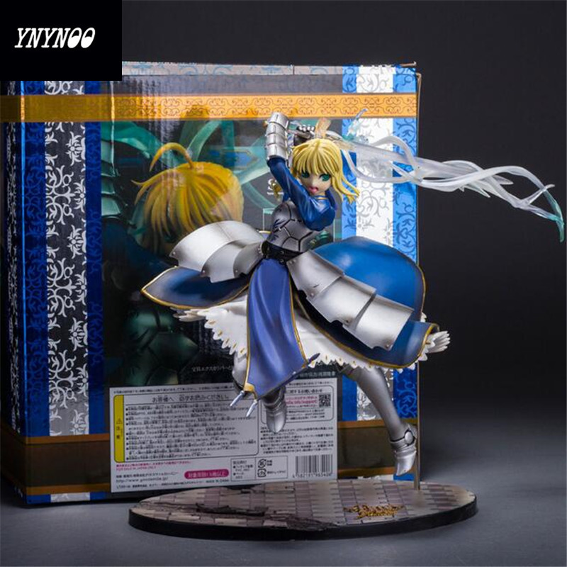 YNYNOO Anime Figures 1pcs Fate stay night Black Saber Lily the Sword of Victory action figure toy 25cm Z250 fate stay night unlimited blade works king of knights saber 1 7 scale pre painted figure collectible toy 25cm