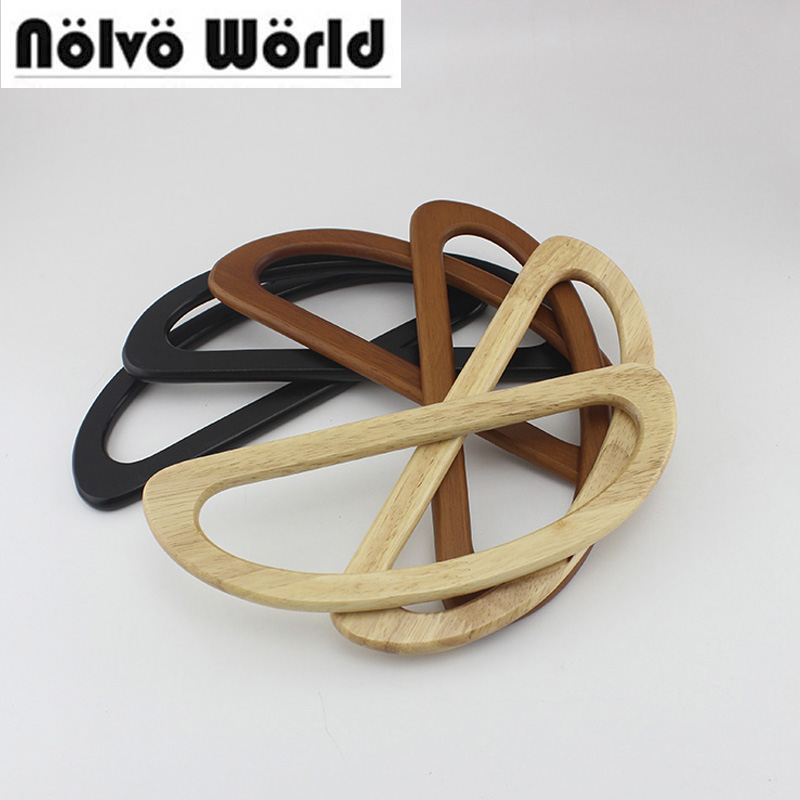1 Pair=2 Pieces,24X9cm 3 Colors Real Wood Handle For Design Your Exclusive Purse,solid Wood Useful Bags Handles