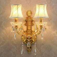 hallway wall lights led crystal lamp light bedroom sconce living modern sconces