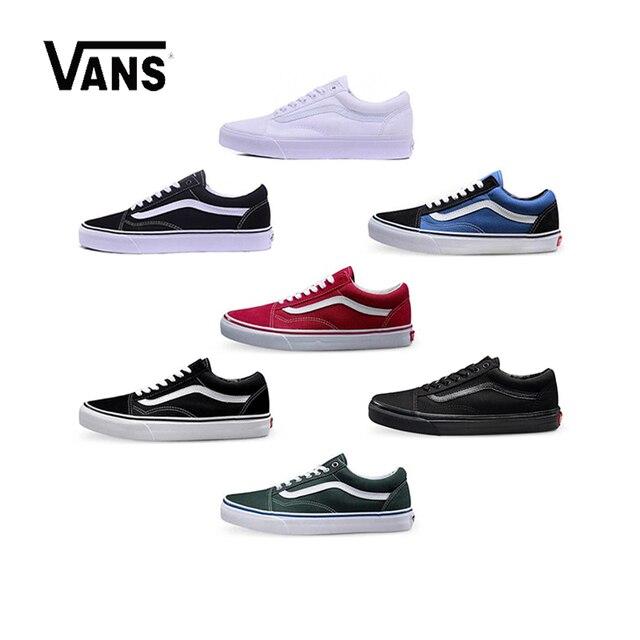 Original Vans Old Skool low-top Sapatos Sapatos de Skate Esportes CLÁSSICOS  Unisex HOMENS   43131bd2b44