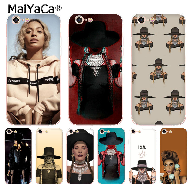 MaiYaCa pop music singer Beyonce woman soft tpu Phone Accessories Case for iPhone 8 7 6