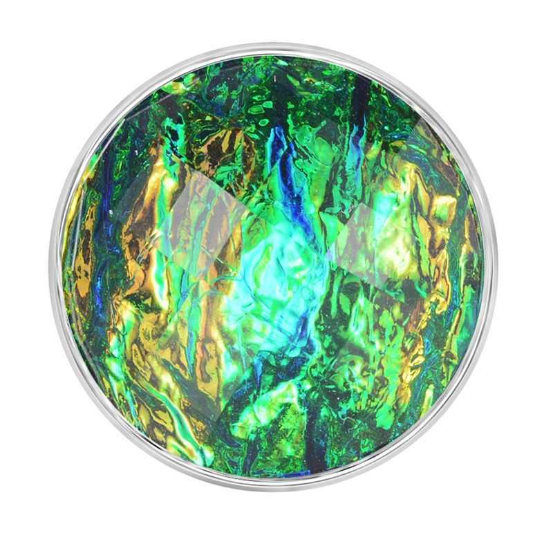 Diseño de color verde botón a presión 18mm amuletos cierre Snap fit Ginger Snaps joyería Vn-1987