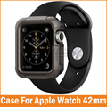 Nueva cubierta de armadura resistente para apple watch 2 1 caja 42mm 38mm Serie 2 Casos Arañazos Protector A Prueba de Choques de La Piel Fundas para iwatch