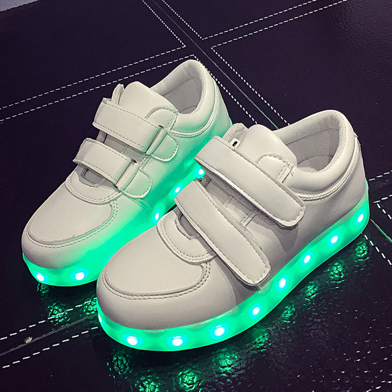 2a07206d1 Eur25 37  USB Charging Basket Led Children Shoes With Light Up Kids ...
