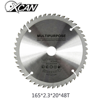 XCAN HSS TCT Circluar Saw Blade 165 2 3 20mm For Cut Wood Steel Plastic 48T