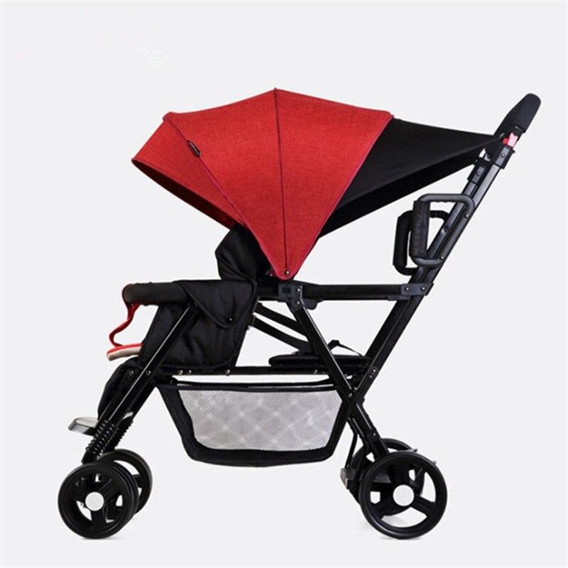 Baby Stroller For Twins Second Child Double Stroller Prams Bebek Arabasi Kinderwagen Pouss