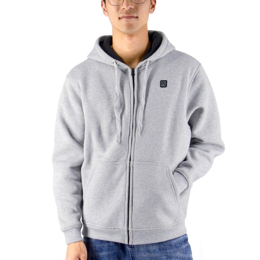 livre aquecido hoodie macio leve aquecimento casaco