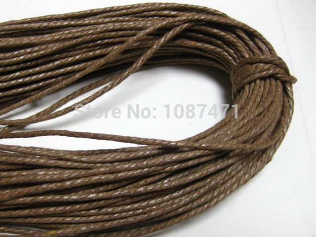 BLACK AND BROWN WHITE 15 METERS OF WAXED COTTON CORD AVAILABLE IN MIXED PACKS
