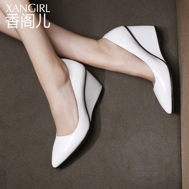Hot Selling All Match Low Cut Uppers Solid Color Pointy Wedding Single Fashion font b Women