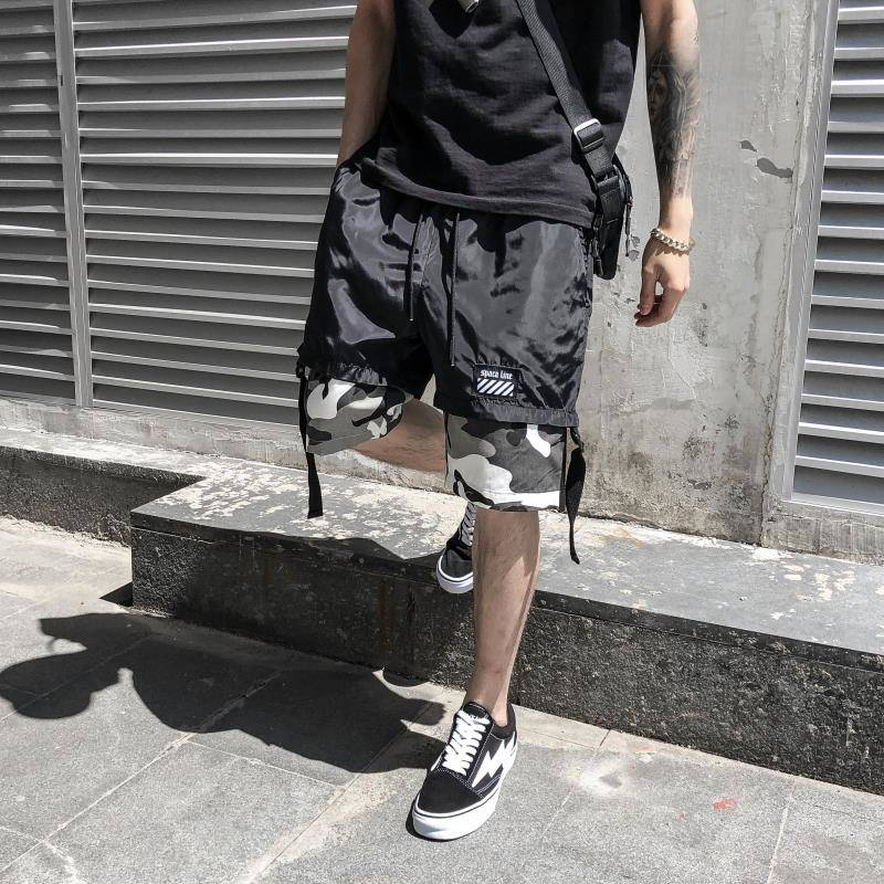 2019 Hip Hop Shorts Men Summer Hot Sale Work Short Pants Cool Camouflage Slim Fit Shorts Trousers Fashion Mens Cargo Shorts Men