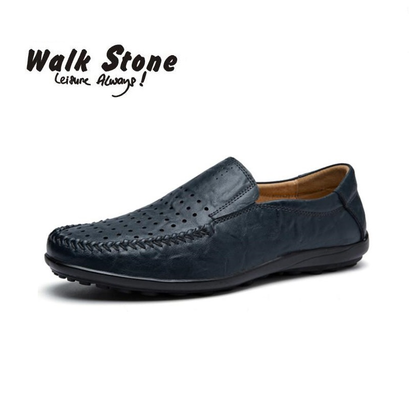 7e78f142dbad 100% echtes Leder herren Freizeitschuhe Britische Art Mokassins Wohnungen  Zapatos Hombre Müßiggänger Schuhe Männer Sping Chaussures Faul in 100%  echtes ...
