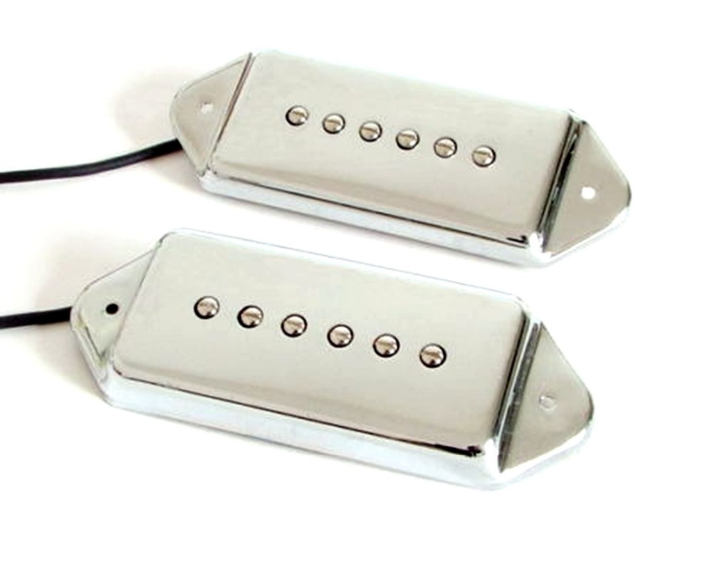 US $25 51 10% OFF Set of 2 Pcs Chrome P90 Dog Ear Single Coil Pickups, Neck  & Bridge-in Guitar Parts & Accessories from Sports & Entertainment on
